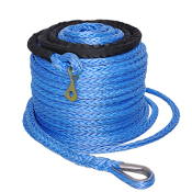 "92' x 2/5"" Synthetic Winch Rope Cable 17500 lbs"