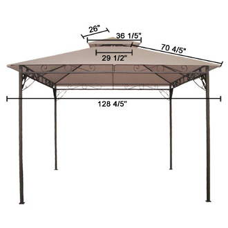 sc 1 st  Our Products & 10x10 ft Garden Gazebo Top Replacement Canopy Tan