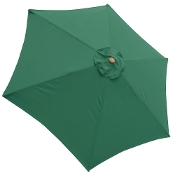 9 ft 6-Rib Patio Umbrella Replacement Canopy Green