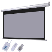 100 inch 16:9 Motorized Projection Screen Wall Ceiling w/ Remote
