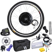 48v 1KW 26in Front Wheel LCD Electric Bicycle Motor Kit