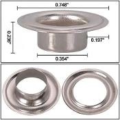 #0 #2 #4 Brass Grommets and Washers Package
