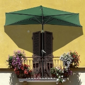 10 Foot Patio Half Umbrella Off The Wall Tilt Green