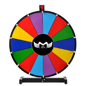 "MegaBrand 24"" Color Dry Erase Spinning Prize Wheel 14 Slot"