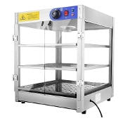 Commercial 3 Tier Food Warmer Display Case Pizza Cabinet