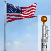 25Ft Telescopic 16 Gauge Aluminum Flag Pole