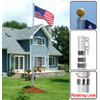 16 ft Aluminum Telescoping Flag Pole Kit with US Flag